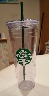 Starbucks Logo Cold Cup Venti (24 ounce) Clear Plastic - Used
