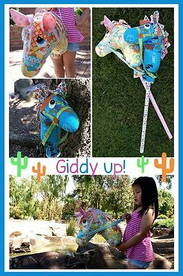 Giddy Up Hobby Horse PATTERN by Melly and Me - Softie pattern - Fabrics4u2