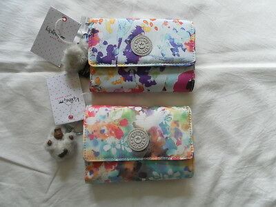 New Auth Kipling Women Wallets Set Of 2.ac3739 961 And Ac3739 901 Navy/ Multi