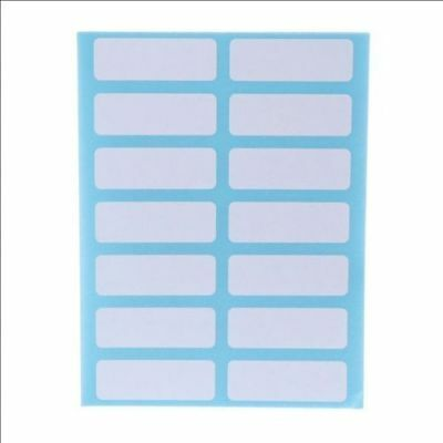 12 Sheet Self Adhesive Sticky White Label Blank Post It Stickers'Note Tags Craf