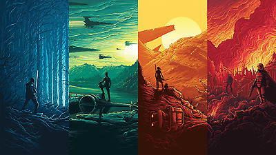 Star wars collage Canvas Framed Unframed home office wall decor choose your size