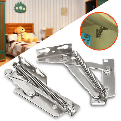 AU 2Pcs Sprung Spring Hinges Cabinet Door Lift Up Stay Flap Top Support Cupboard