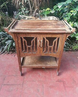 Antique Drinks Trolley / Auto Trolley / Tea Trolley / Cocktail Cabinet