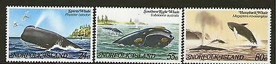 NORFOLK Is, 1982 WHALES 3 MNH