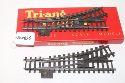 2 x Triang OO 1:76 R.490 Super 4 manual LH Points Left hand  FNQHobbys SW876