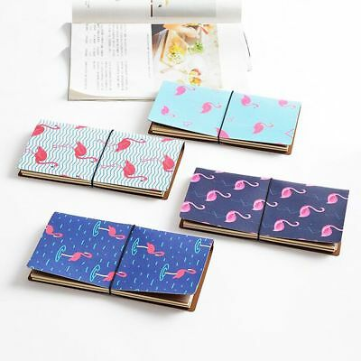 """1Pc """"Flamingo"""" PU Leather  Notebook For Agenda Study Scheduler Travel Journal"""