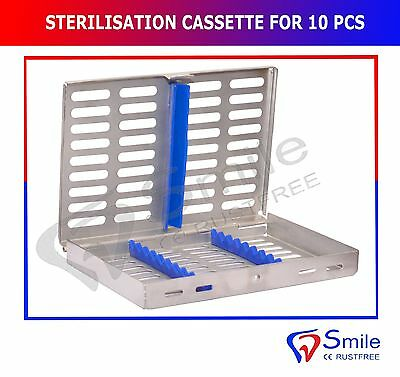 Sterilization Cassette Rack Tray Holds 10 Dental Surgical Instrument Autoclave