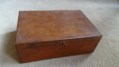 Vintage Wooden Box With Compartments 1930's