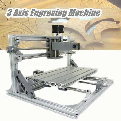 3 Axis DIY Mini CNC Machine GRBL PCB PVC Milling Wood Router Engraver Printer