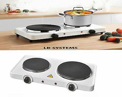 2500W Portable Double Twin Electric Hot Plate Cooking Hob Cooker Hotplate Stove