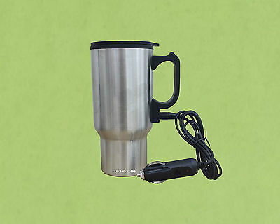 12V Car Heated Warm Stainless Steel Travel Camping Electric Mug Kettle Jug New