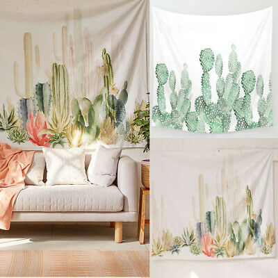 Tapestry Wall Hanging Living Room Polyester Cactus Desert Plant Dorm Home Decor