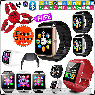 Q18 Bluetooth Smart Watch Phone Mate Camera Sim Slot for Android IOS GT08 LOT