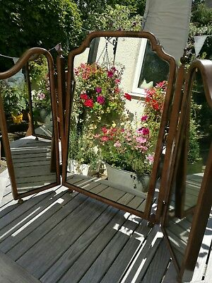 Vintage three fold dressing mirror