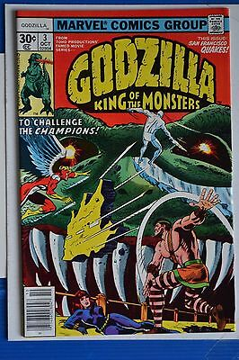 Godzilla # 3 : Near Mint- : Oct 1977 : Marvel Comics: {Comic Books}.