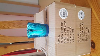 Lot de 23 bougeoirs turquoises