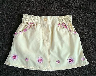 yellow skirt - size 6-12 months