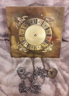 Old 30 Hour Duration Longcase/grandfather Clock Movement & Dial-No Reserve!!!