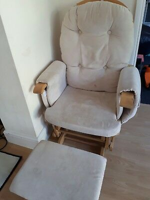 baby weavers nursing chair with footstool