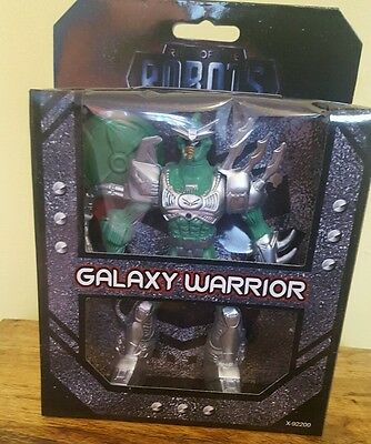 Rise of The Robots Galaxy Warrior Action Figure Toy. With two battle accessories