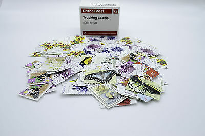 Unfranked Australia Stamps Face Value $380 and Box of 50 Parcel Tracking Labels