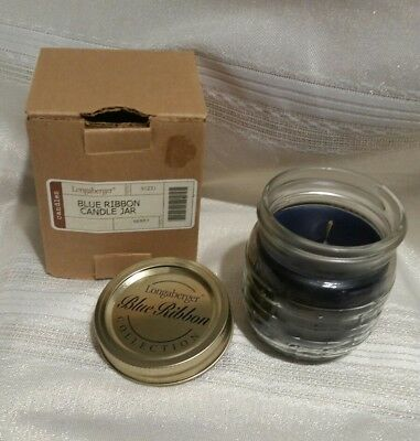Longaberger Blue Ribbon Candle Jar Berry NIP
