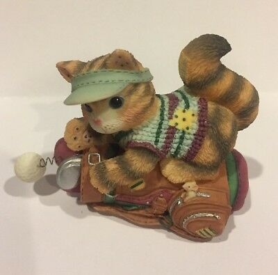 Enesco Calico Kittens- Laughter Drives A Winning Friendship- 1998