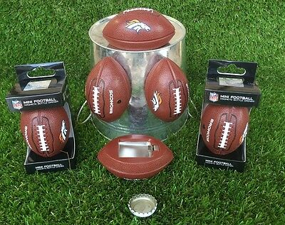 DENVER BRONCOS - (LOT of 6) MAGNETIC FOOTBALL BOTTLE OPENERS!!!