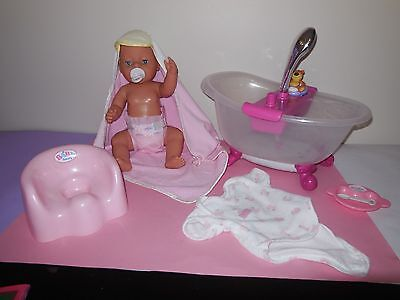 Zapf Baby Born Bath, Complete With Baby Born Doll And Accessories