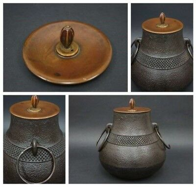 Antique Tea Ceremony CHAGAMA Japanese iron kettle Vintage Teapot from JAPAN a248