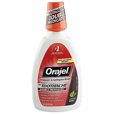 Orajel Analgesic & Astringent Rinse Toothache Soothing Mint - 16 Oz
