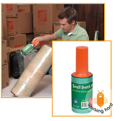 PLASTIC STRETCH WRAP 5''x1000' Hand Film Furniture Moving Packing Wrapping Tape