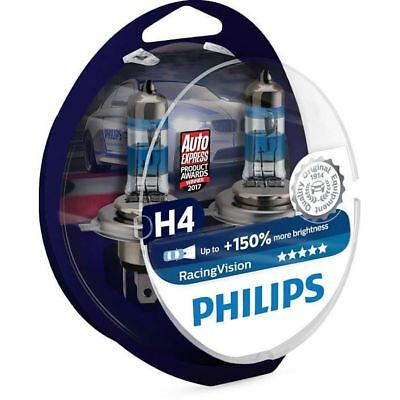 Philips H4 Racing Vision 472 150% more vision headlight bulbs 12342RVS2 SET
