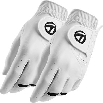 TaylorMade 2017 All-Weather Leather Palm Mens Golf Gloves Pack of 2 - LEFT HAND