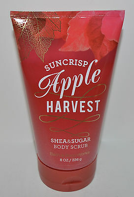 New Bath & Body Works Suncrisp Apple Harvest Shea Sugar Body Scrub Wash 8 Oz