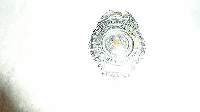 Original Vintage** Abington Fire Dept Dist No. 5 Engineers Pin Back Badge** Pa.