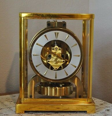 Vintage1955 Swiss Lecoultre Baby Atmos  Mantle Clock for Parts/Repair Cal. 526-5