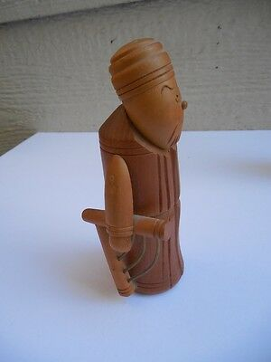 Vintage Made In Republic Of Ireland Wooden Figurine 5,5""