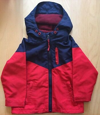 Boys BHS Fleece Lined Raincoat Age 18-24 Months RRP £20