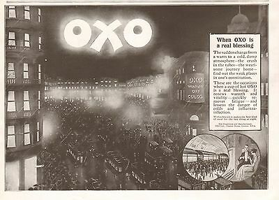 1919 Antique Print- Advert-Oxo-When Oxo Is A Real Blessing