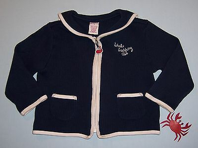 """Gymboree girls """"WHALE WATCHING"""" sz 3T CARDIGAN...NAVY RIBBED SAILOR...CUTE"""