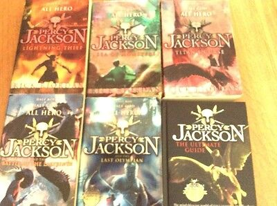 percy jackson set of 5 books plus ultimate guide