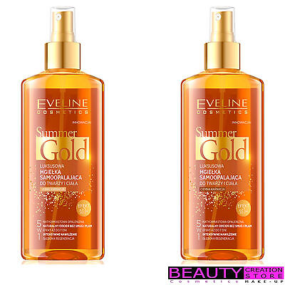 EVELINE 5in1 Luxury Tan Mist Face And Body Summer Gold 150ml CHOOSE EV124