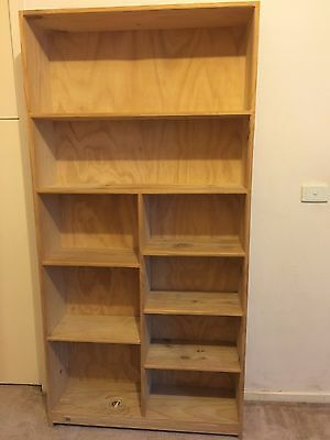 Timber bookshelf on sale