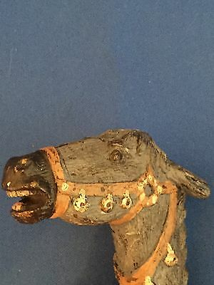 Cold Painted Bronze of a Horses Head for Walking Stick by Bergman