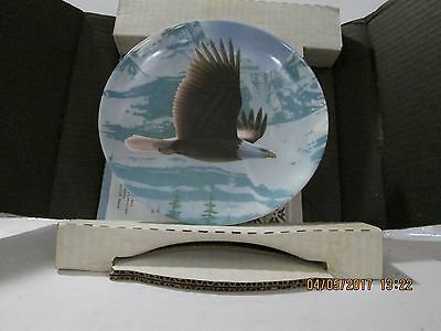 Knowles Bradford Exchange Collectible Plate The Bald Eagle Daniel Smith 1988 514