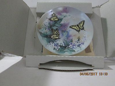 Bradford Exchange Collectible Plate W L George Western Tiger Swallowtails 1988