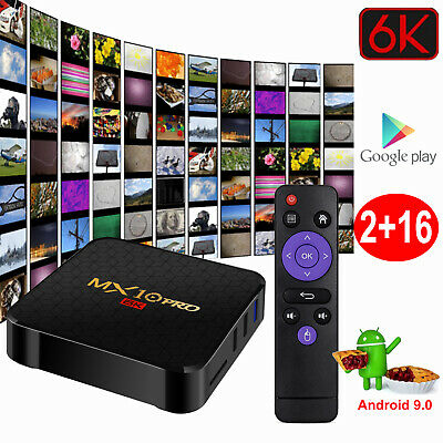 MX10 PRO 2+16G Android 8.1 Oreo Quad Core Smart TV BOX WIFI HDMI 4K Media Player
