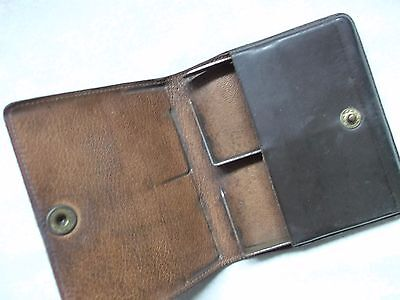Wallet Vintage Leather CIGARETTE CASE WALLET 1950s 1960s DARK BROWN MOD