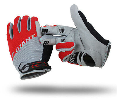 Red Giant TOUCH SCREEN Cycling Gloves Cycle Bicycle Bike BMX Full Finger Mitts